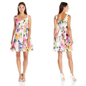 NWT Adrianna Papell Ivory Floral Fit & Flare Dress